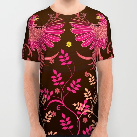 Rooster Fighting All Over Print Shirt