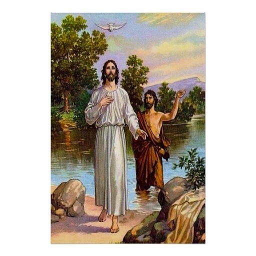 Matthew 3:13-17 Jesus Is Baptized Poster