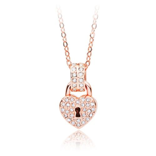 Devotion Crystal Pendant with Swarovski® Crystals Rose Gold Plated