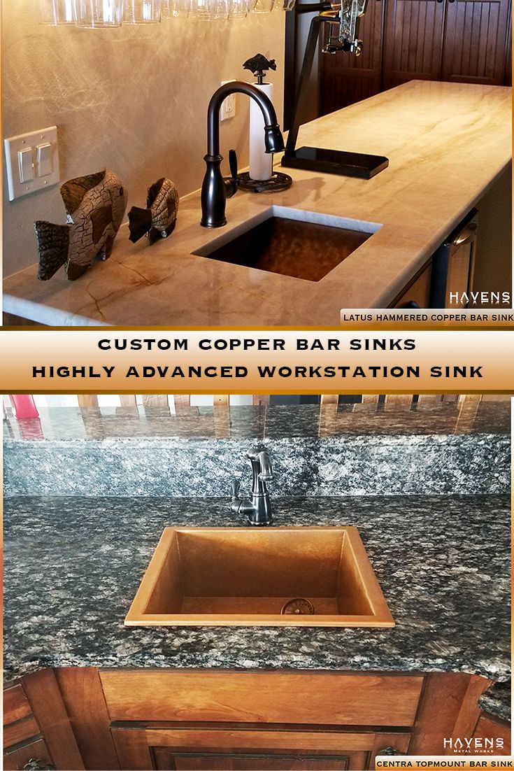 Pin By Our Great Vine On Barndominiums And Tiny Homes In 2020 Sink Copper Bar Sink Prep Sink
