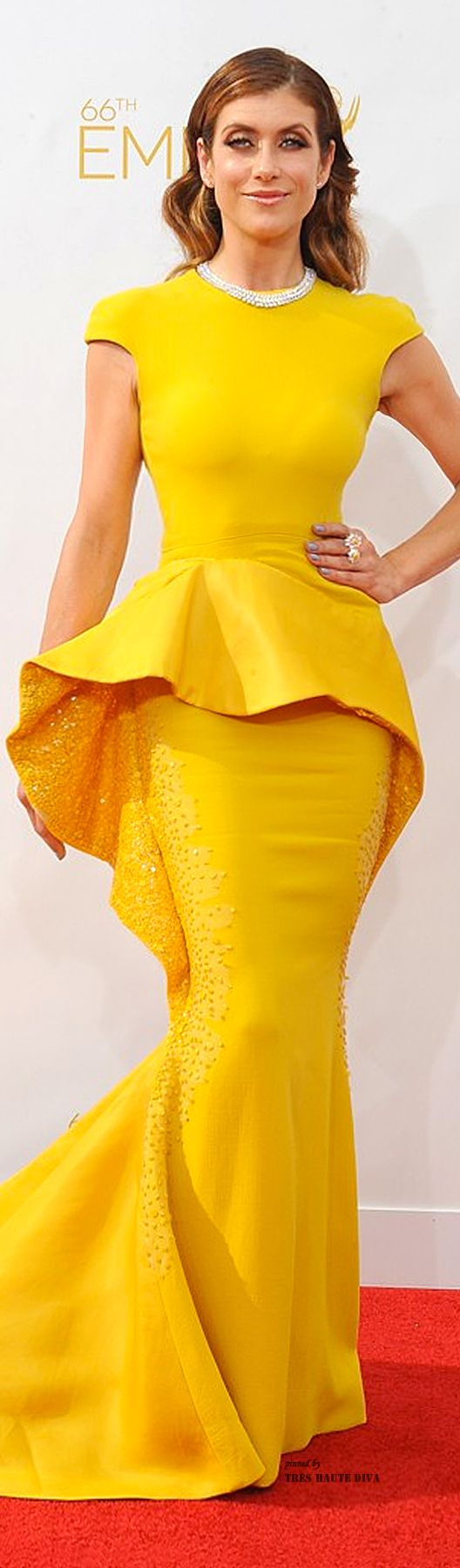 2014 Emmys ♔ Kate Walsh in Stephane Roland Couture and Chopard Jewelry | The House of Beccaria~