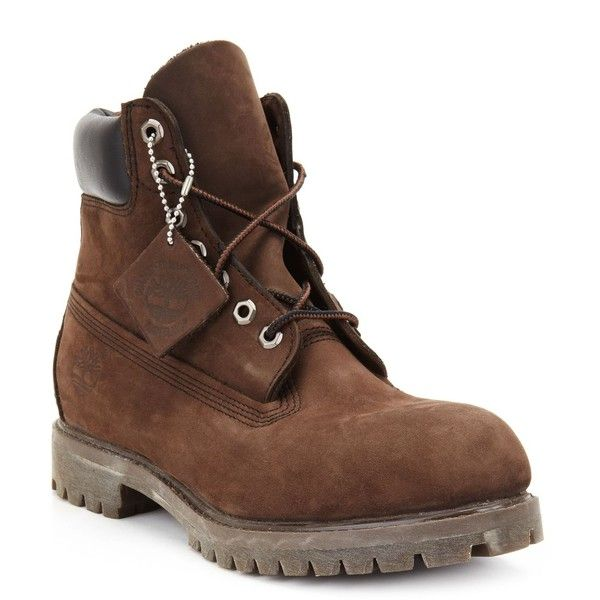 "Timberland 6"" Premium Waterproof Boots ($190) ❤ liked on Polyvore featuring men's fashion, men's shoes, men's boots, men's work boots, dark chocolate, mens waterproof boots, mens boots, mens waterproof work boots, mens work boots and mens water proof boots"