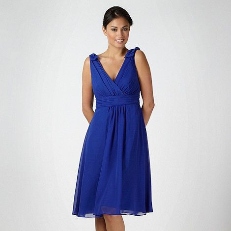 Debut Bright Blue Chiffon Prom Dress At Debenhams Mobile
