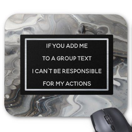Group Text Funny Office Humor Mousepad Black - black gifts unique cool diy customize personalize