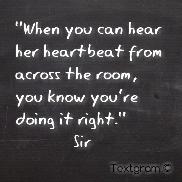 "You Know You Re In Love When Quotes: #QOTD: #love #quote ""When You Can Hear Her Heartbeat From"
