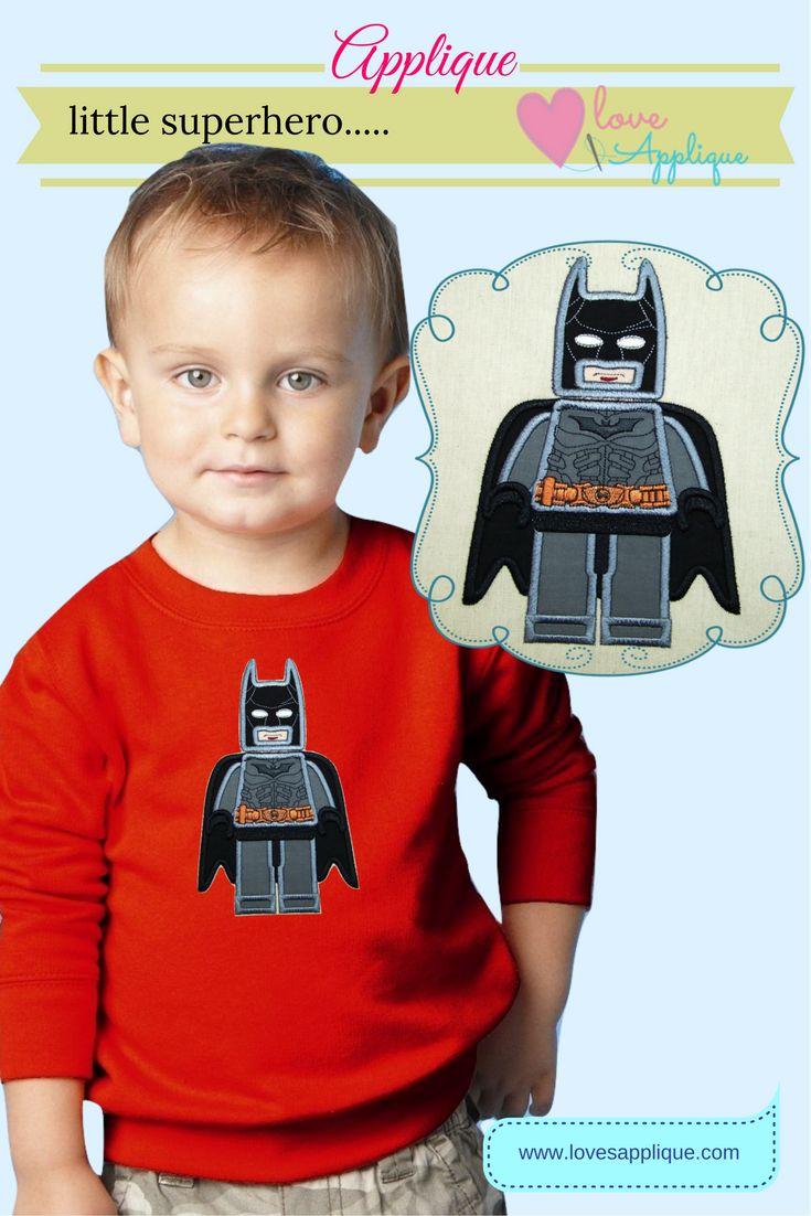 Batman Lego Applique. Batman Superhero. Batman Party Ideas. Batman Outfits. Batman Designs. Batman T Shirt. www.lovesapplique.com