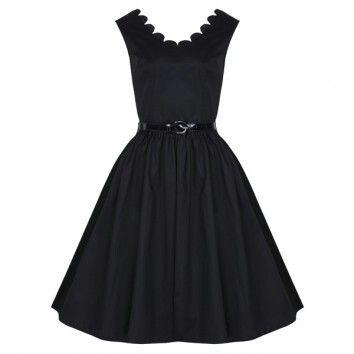 Jaren 50 jurk met mooie hals