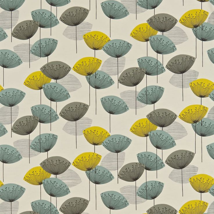 Fabric | Sanderson | Options 10  Design name: Dandelion clocks  Colour: Chaffinch  Product number: DOPNDA204 | Retro