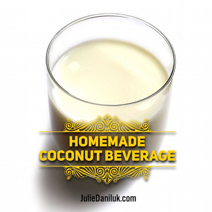 Homemade Coconut Beverage