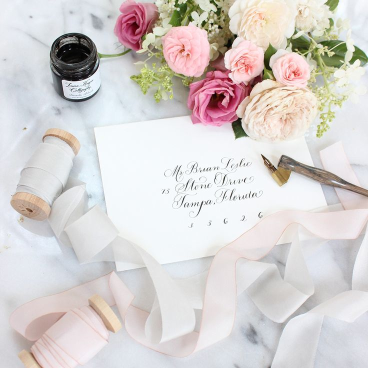 Wedding Invitation Envelopes – Calligraphy business – Calligraphy client – Laura Hooper Calligraphy