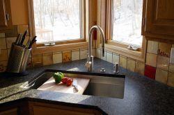 Millennia textured stainless steel kitchen sinks by Rachiele
