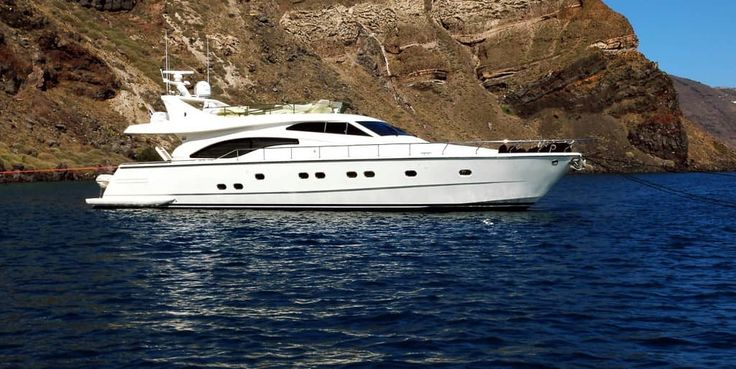 Looking for a little more luxury? Hop aboard the Alexandros Ferrett 680 by Sunset Oia Sailing Cruises