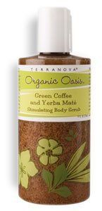 Terra Nova Green Coffee & Yerba Maté Stimulating Body Scrub by Terra Nova Organic Oasis. Save 5 Off!. $15.75. Terra Nova Green Coffee & Yerba Maté Stimulating Body Scrub is 70% certified organic.. Fight dreaded cellulite, while cleansing, exfoliating and moisturizing your skin with this bubbly scrub that wakes up skin with cell-stimulating, caffeine-rich organic green coffee and yerba maté, plus a sunburst of orange.