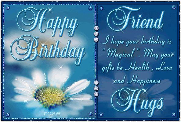 """Some like Sunday Some like Monday but I like your birthday Happy Birthday my sweet friend."""