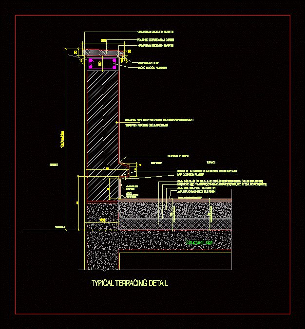 Dwg details classes pinterest architectural drawings for Terrace khurra detail