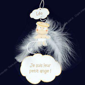 Faire-part naissance plume d'ange - NL10-032