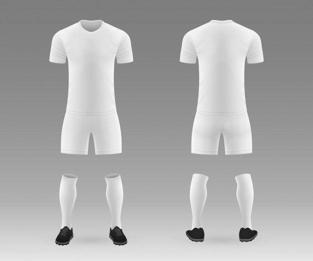 3d Realistic Template Blank Soccer Kit Sport Shirt Design Soccer Kits Sports Shirts