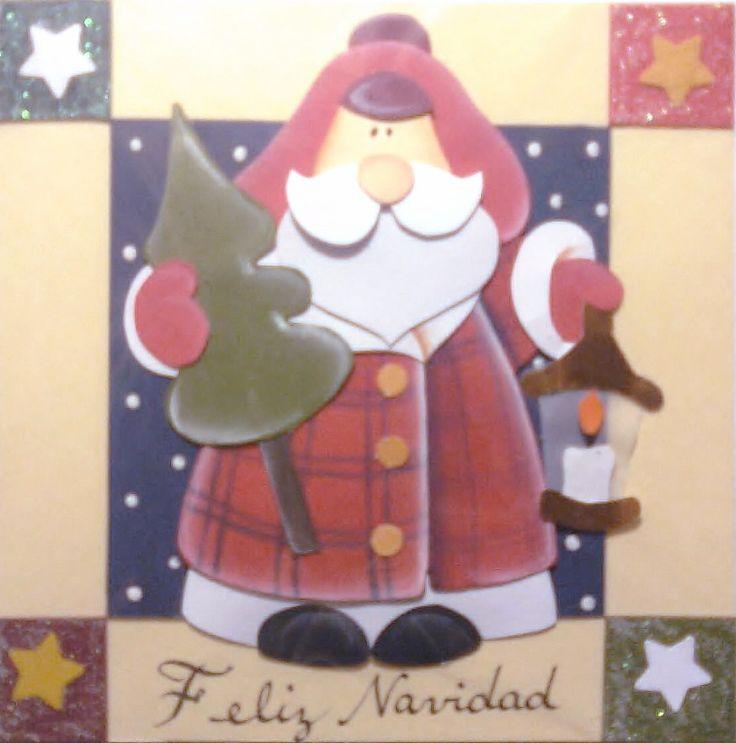 tarjeta navideña 100% hecha a mano