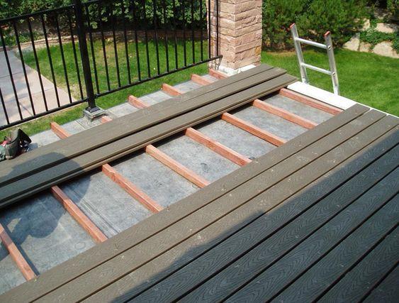 Flat Roof Deck Design Home Design Ideas Floating Deck Plans
