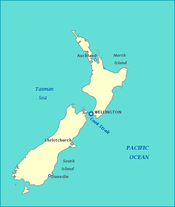 New Zealand, the world's youngest country.