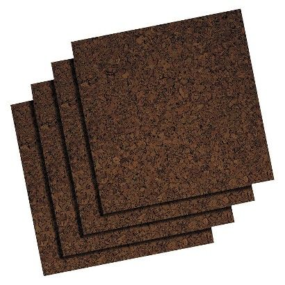 Quartet® Cork Panel Bulletin Board, Brown, 12 x 12, 4 Panels/Pack