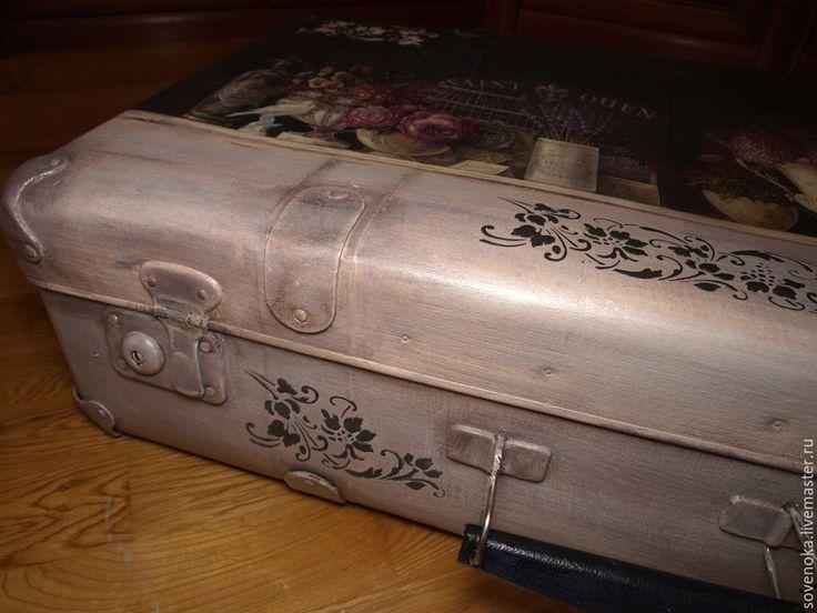"""Купить Чемодан большой """"А ты помнишь?...."""" - чемодан, чемоданчик, винтажный стиль, винтаж, короб для хранения"""