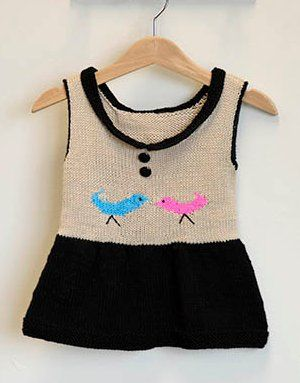 I can't get over how adorable this Little Birdie Dress is! Check out the free knitting pattern right here!