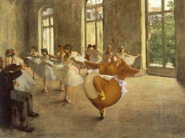IlPost - Un ippopotamo danzante di Fantasia finisce tra le ballerine di Degas. - Un ippopotamo danzante di Fantasia finisce tra a href=http://it.wikipedia.org/wiki/Prova_di_ballettole ballerine/a di Degas.