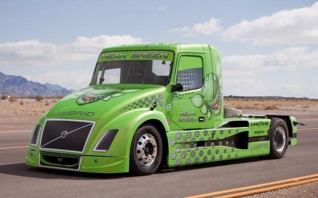 Volvo hybrid truck breaks world speed record      http://www.digitaltrends.com/cars/volvo-hybrid-truck-breaks-world-speed-record/
