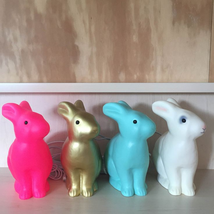 Rabbit Lamp | White, Gold, Pink, Mint
