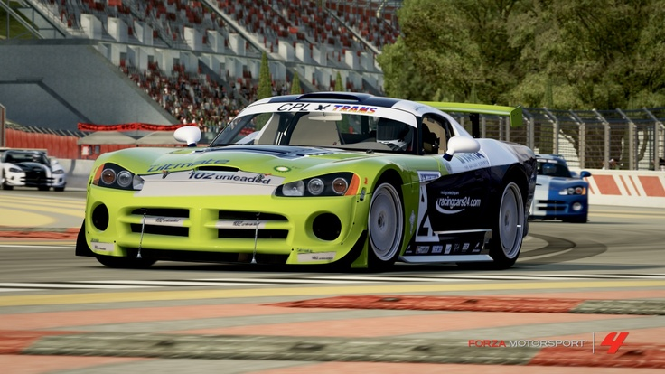 1.Dodge viper photo taken by me in garage of Forza 4 Motorsport (xbox 360) Design was copy by me taken a picture of real team car