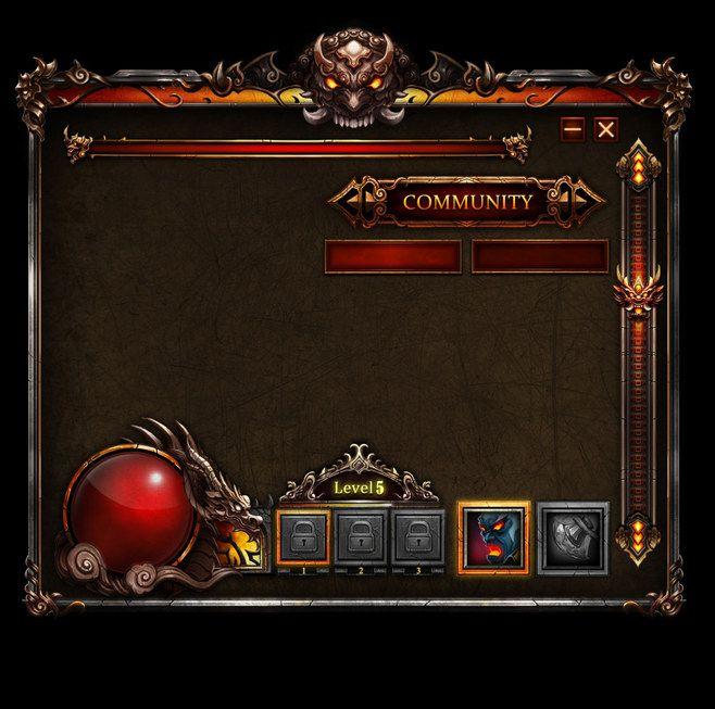 暗黑风格游戏界面UI