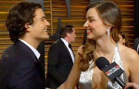 Orlando Bloom and Miranda Kerr reunite at the Vanity Fair Oscar Party