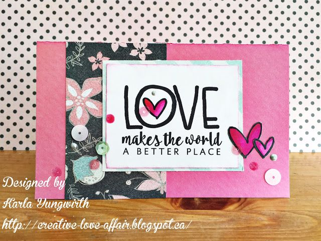 Handmade card by Karla Yungwirth using the Love From Me digital set by Verve. #vervestamps
