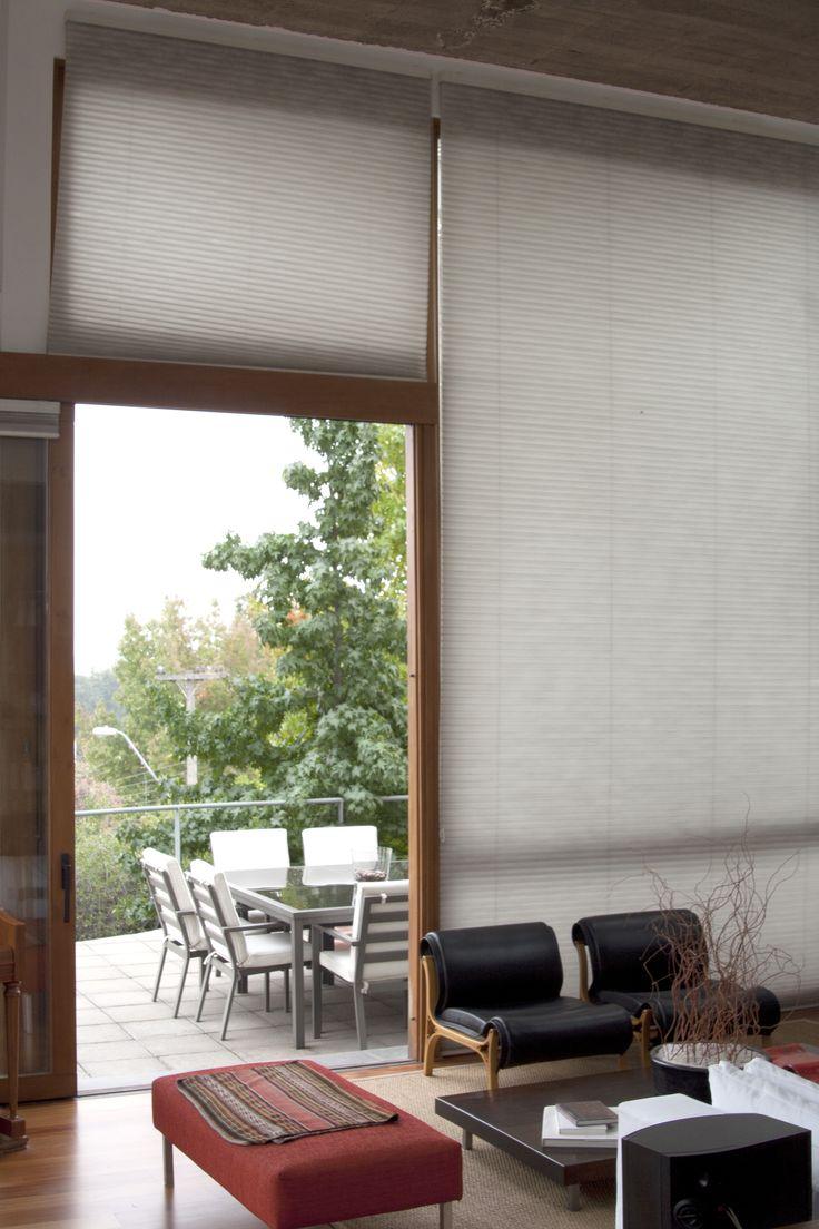 cortina plisada con celdas microfibras
