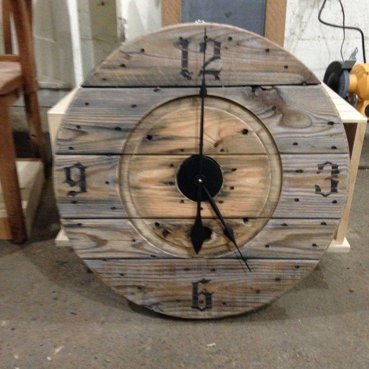 Wire spool clock
