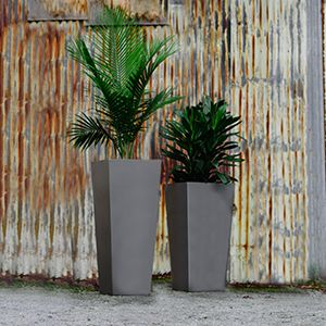 Planters Perfect - Tapered Metal Planter #metalplanters #taperedplanters #aluminumplanters
