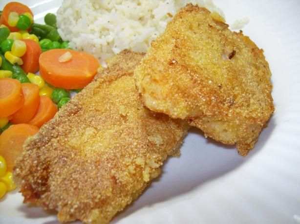 Pan-Fried Cornmeal Batter Fish from Food.com:   								The catch of the day is dipped in a crispy cornmeal batter and pan fried.  Land-O-Lakes Cookbook.