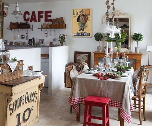 Comme un bistrot parisien decor bois pinterest kitchen ideas restaurant design and paris - Cuisine style bistrot parisien ...