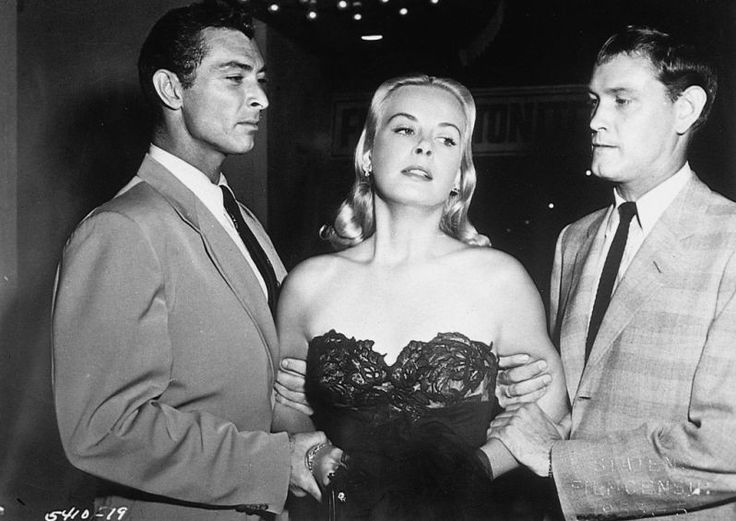 "Lee Van Cleef, Jean Wallace, Earl Holliman in ""The Big Combo"" (1955)"