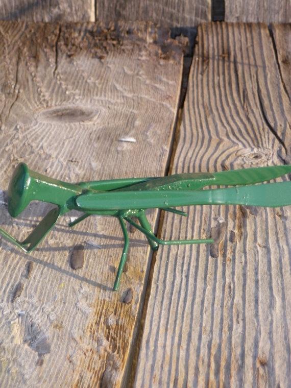 Praying Mantis Yard And Garden Art Found Object Welded