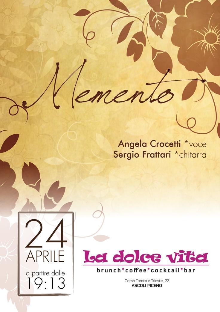 Memento live @LaDolceVita di Ascoli Piceno: martedì 24 aprile 2012, ore 19:13. Aperitivo in lounge bar