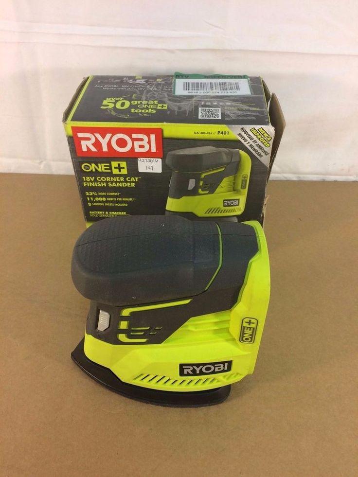 Ryobi P401 18V corner cat finish sander, Tools, Woodworking 9272016.147 #Ryobi