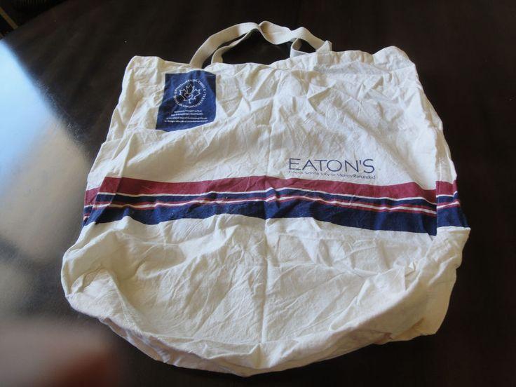 "Vintage Eaton's Canada Cloth Reusable  Shopping Bag  17-1/2"" x 17-1/2"" #Eatons"