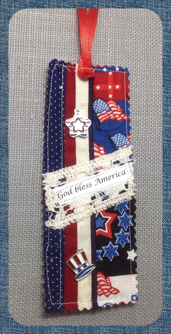 Patriotic Prayer Pocket Bookmark Bookmark Gift Stocking