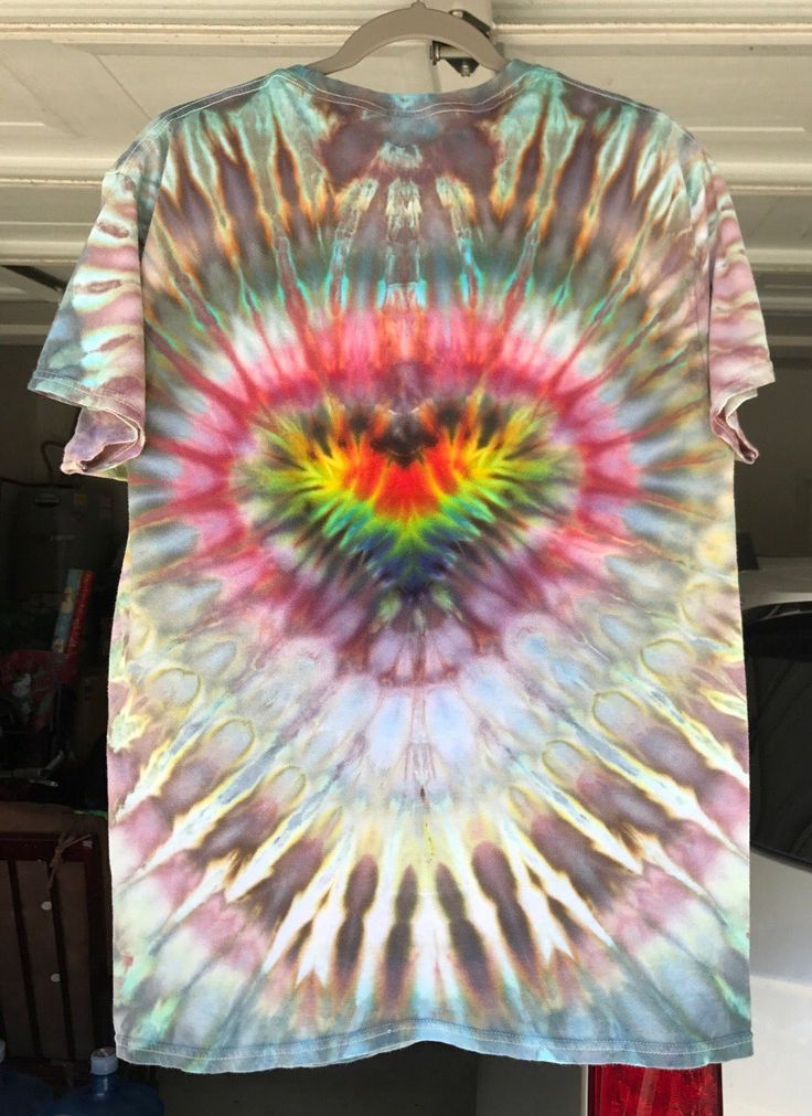 Psychedelic Tie Dye T-Shirt (Ice Dyed) L - Mercari: BUY & SELL THINGS YOU LOVE