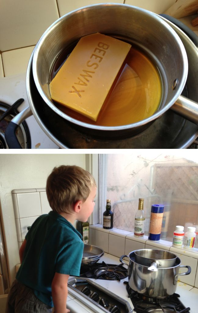 Making your own beeswax modeling clay