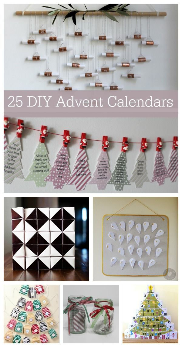Advent Calendar List Ideas : Unique homemade advent calendars ideas on pinterest