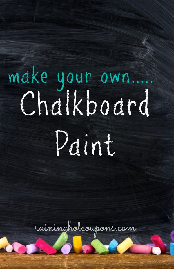 DIY Chalkboard Paint (you can buy a pound of the unsanded grout on Amazon.com for $0.99 + $4.55 shipping or the MAPEI brand at Lowe's for $4.98 as of 10/5/13! ~Kelly R.)