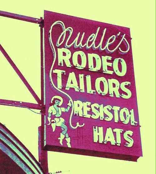 Nudle's Rodeo Tailor Shop, once located on Lankershim Blvd. in North Hollywood CA. Undue was the cowboy tailor to the stars.